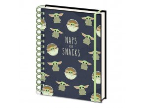 star wars mandalorian zapisnik blok snacks and naps