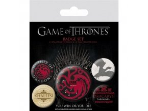 hra o truny game of thrones sada placek fire and blood
