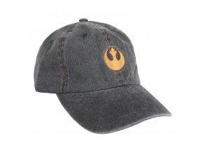starwars basebalova cepice ksiltovka seda logo rebel