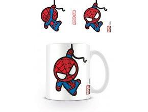 marvel spiderman hrnek kawaii