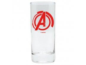 marvel avengers sklenice logo