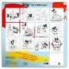 poznamkovy kalendar mickey mouse diy omalovankovy kalendar 30 x 30 cm 1