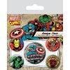 marvel comics placky captain america 5 ks