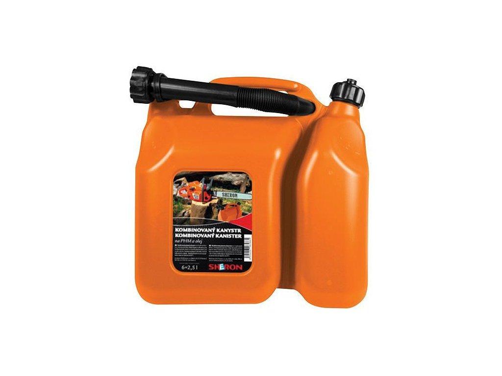 kanister na benzín a olej