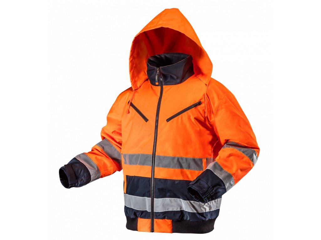 NEO TOOLS 81-711 Pracovná bunda reflexná zateplená, oranžová
