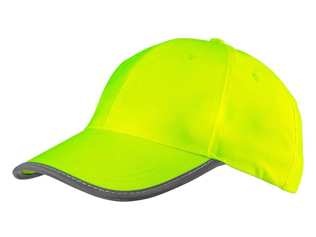 reflexná šiltovka žltá