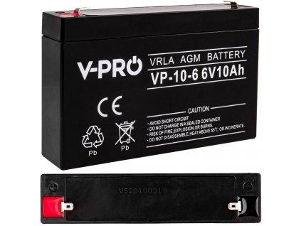 V-PRO AGM akumulátor 6V 10Ah