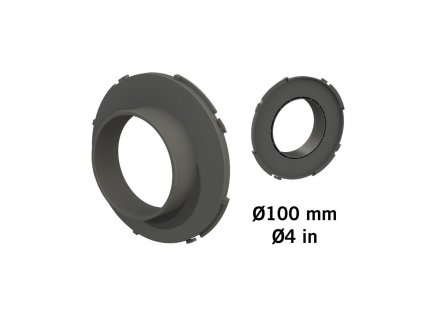 177513 secret jardin connector o100 mm konektor pro ducting flange
