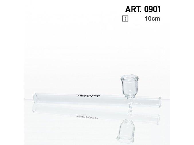 sklenená fajka Glass Kawum- dĺžka:10cm