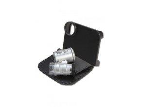 Vreckový mikroskop black leaf led - 60 x ZOOM