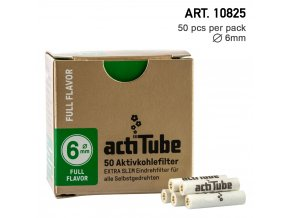 Uhlíkové filtre tune extra slim 6mm - 50ks