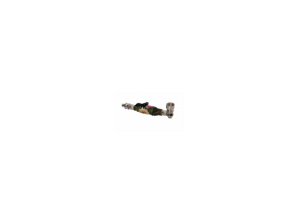 Kovová dýmka Mravenec na kytce