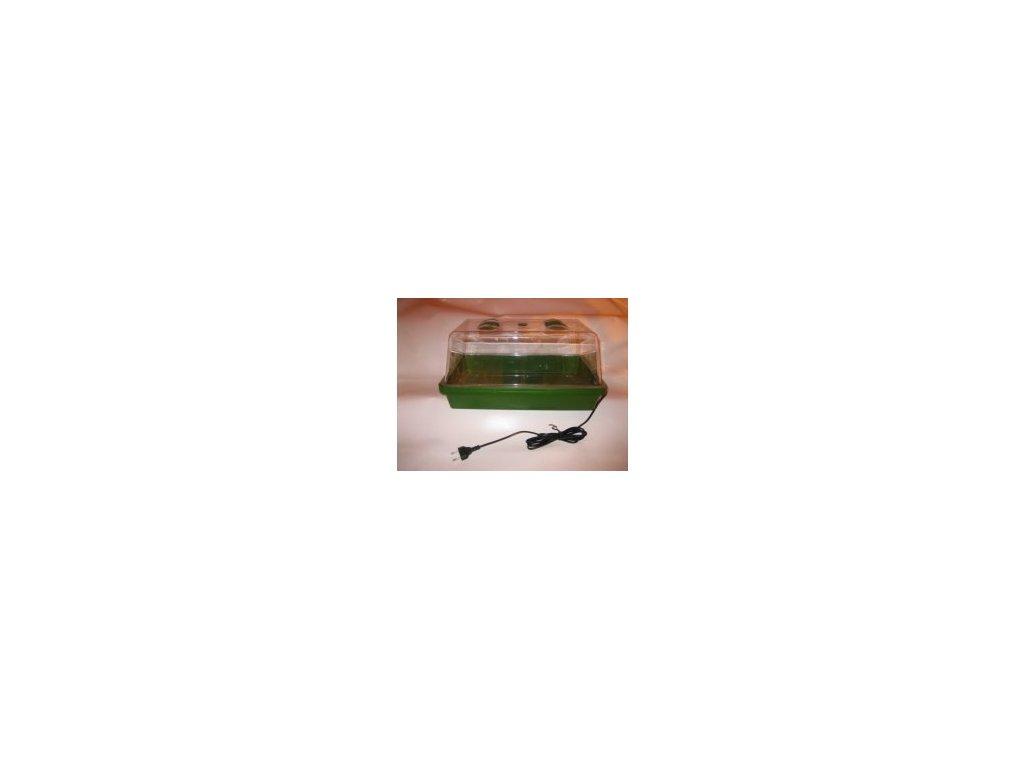 Vyhřívaný skleník s ventilačními klapkami, 38x25x19cm