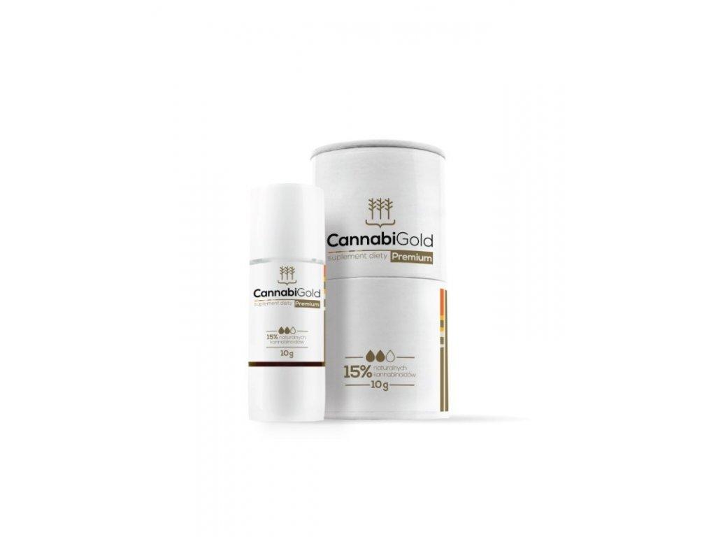 10g CannabiGold Premium zlatý olej 15% CBD, nové balení