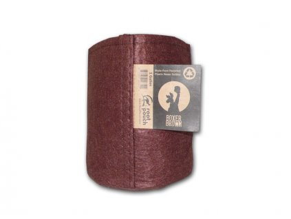 Root pouch textilní květináč Boxer brown 3.8l, nedegradující, 15x19cm
