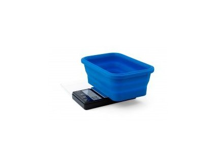 Váha Blue Collapsible Silicone Bowl Scale 1000g/0,1g