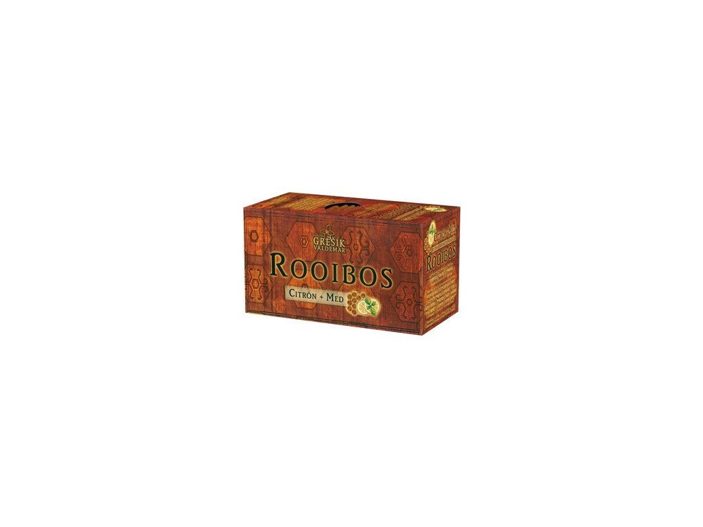 Rooibos Citrón + Med, 20 x 1,5 g s přebalem