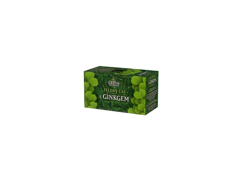 Zelený čaj s ginkgem 20 x 1,5 g s přebalem