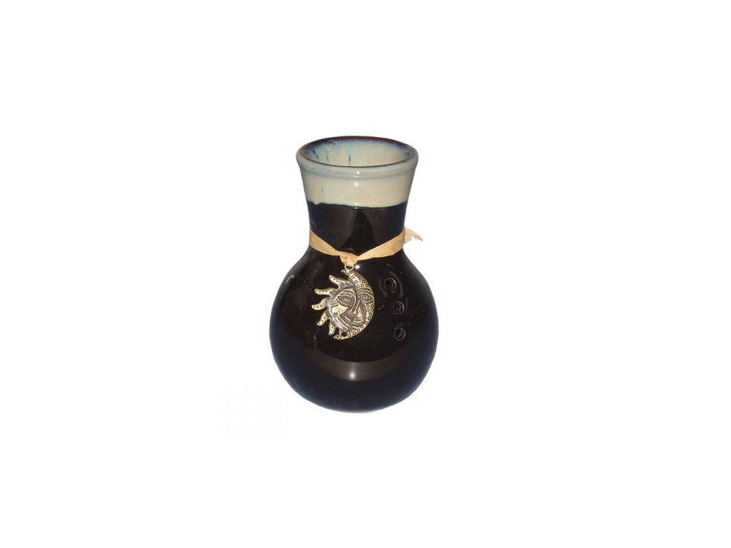 Aromalampa keramická černá