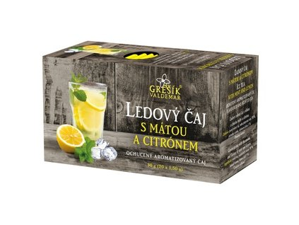 Ledový čaj s mátou a citrónem 20 x 1,5 g s přebalem