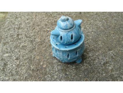 aromalampa keramická modrý mramor