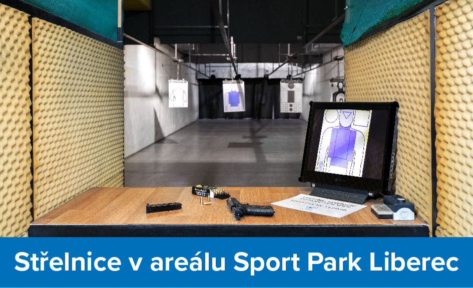 Prodejna a střelnice v areálu Sport Park Liberec