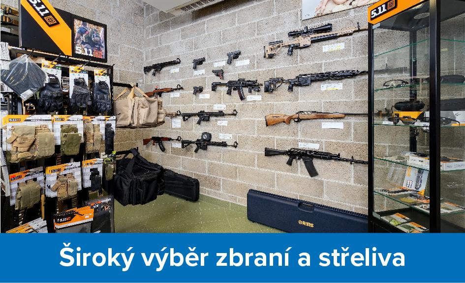 Široký výběr zbraní a střeliva