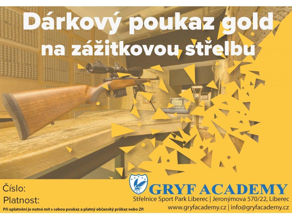 Poukaz střelba gold