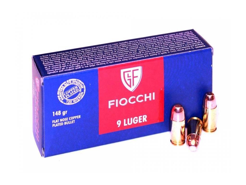 náboj pistolový Fiocchi 9mm Luger, 148gr, FNCP, subsonic