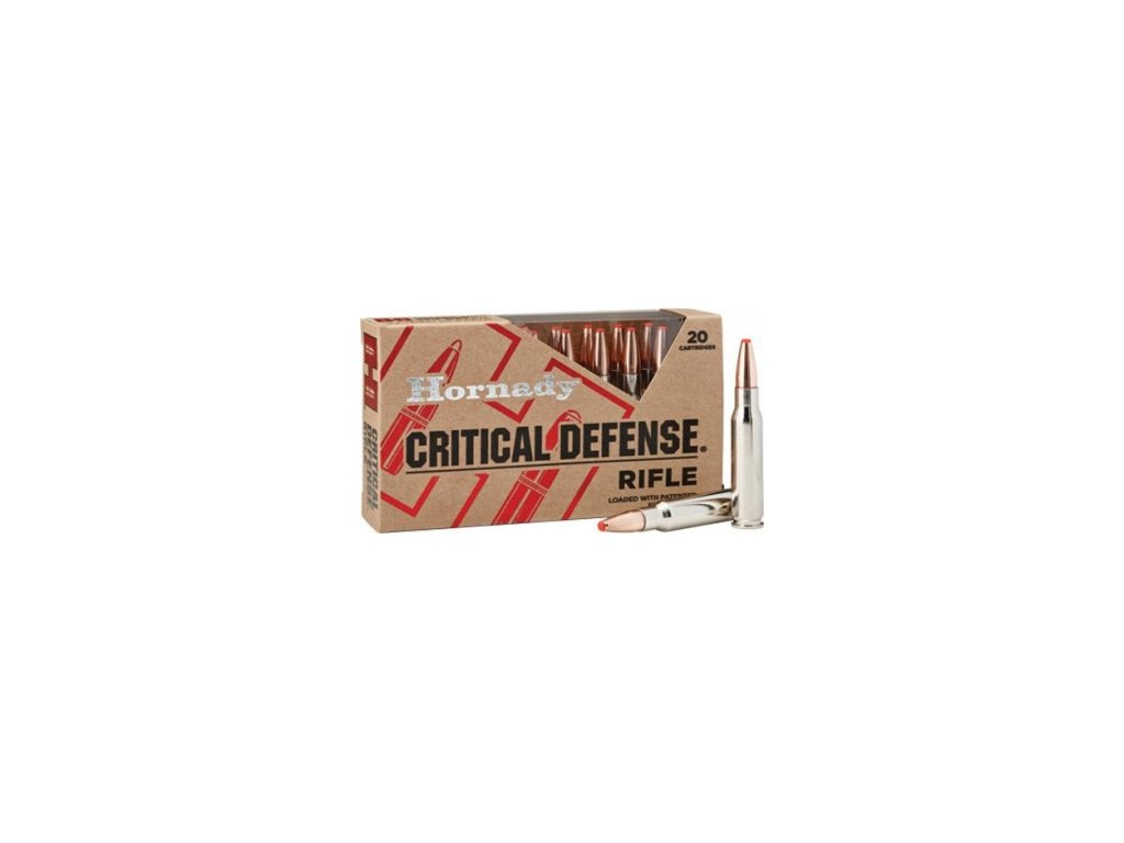 naboj kulovy hornady 223 rem critical defense 73gr ftx