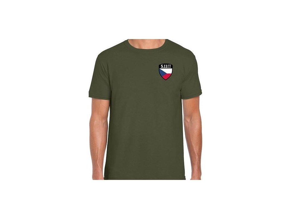 tričko s potiskem 5.11 SHIELD TEE CZ