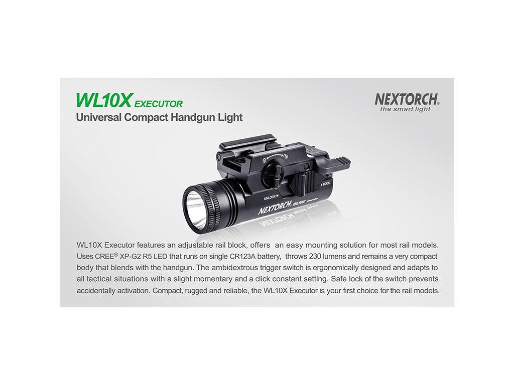 svítilna na zbraň Nextorch WL10X Executor, svítilna na zbraň