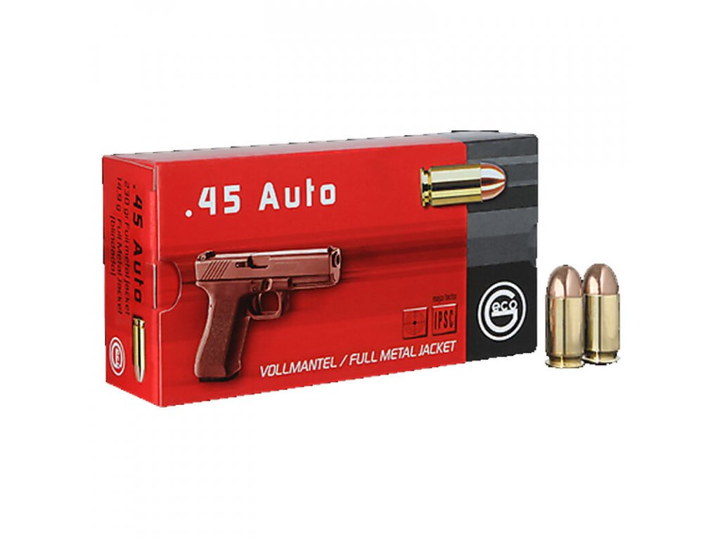 náboj pistolový Geco .45ACP, 230gr/14,9g FMJ