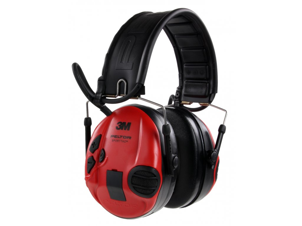 ochrana sluchu 3M PELTOR, SportTac, aktivní, červené MT16H210F-478-RD