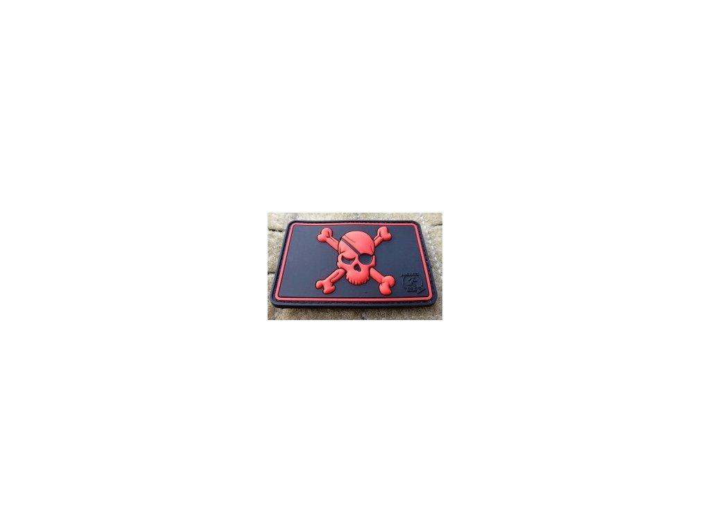JTG.PSP.bm JTG Pirate Skull Patch blackmedic JTG 3D Rubber patch b2