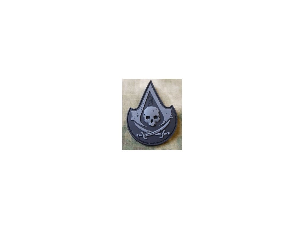 SG.ASP.bo JTG ASSASIN SKULL Patch blackops JTG 3D Rubber Patch b3