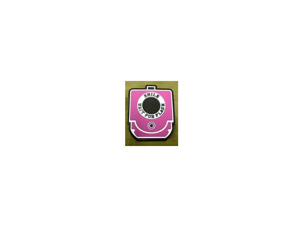JTG.SWFF.p JTG Smile and Wait for Flash Patch pink 3D Rubber patch