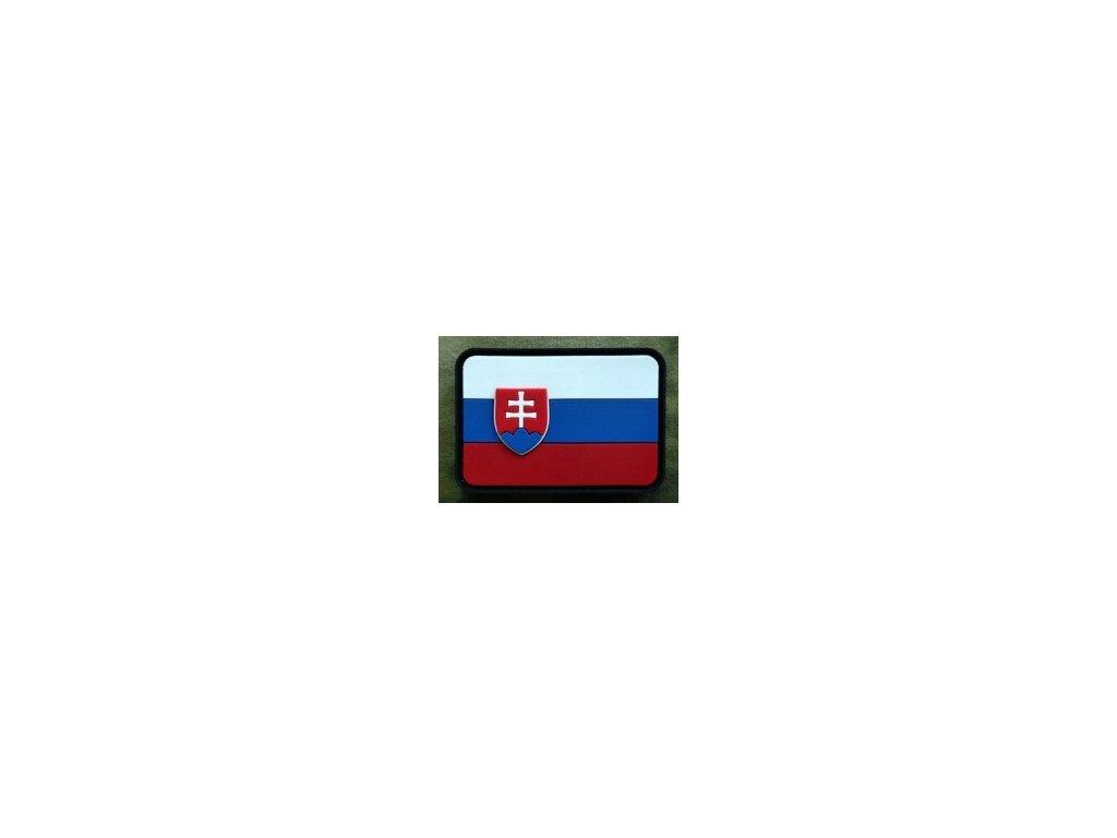 JTG.SKF.fc JTG Slowakische Flagge Patch fullcolor 3D Rubber patch