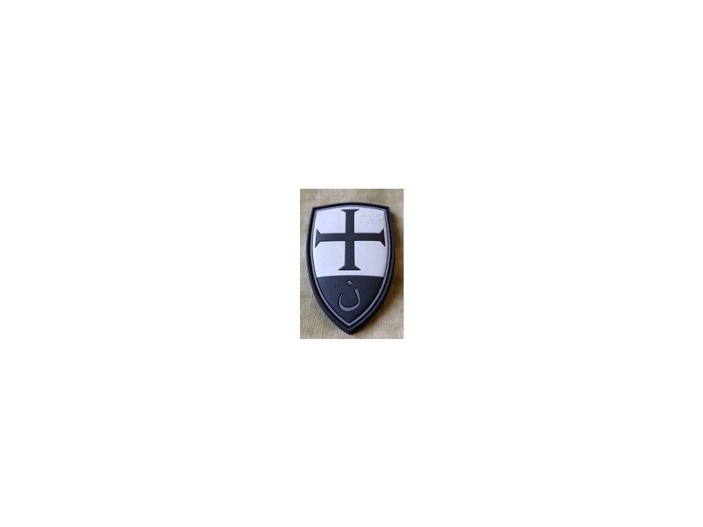 SG.CSP.bo JTG Crusader Shield Patch blackops JTG 3D Rubber Patch b7
