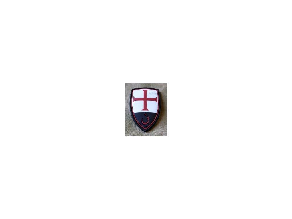 SG.CSP.fc JTG Crusader Shield Patch fullcolor JTG 3D Rubber Patch b3