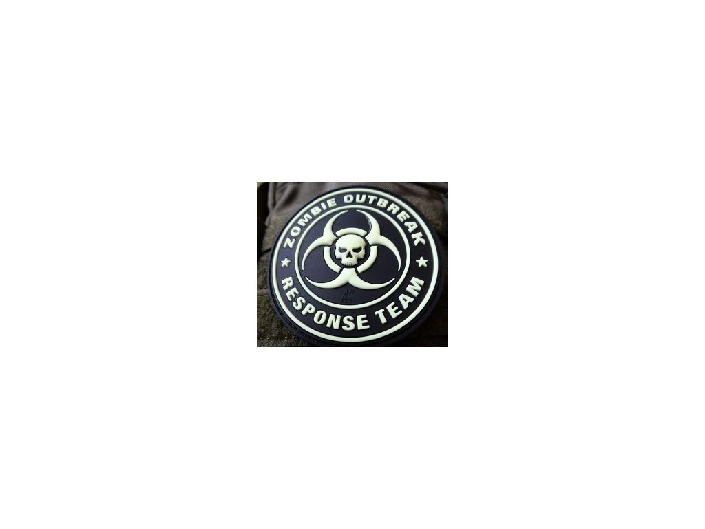 JTG.ZORT.gid JTG Zombie Outbreak Response Team Patch gid glow in the dark 3D Rubber patch b3
