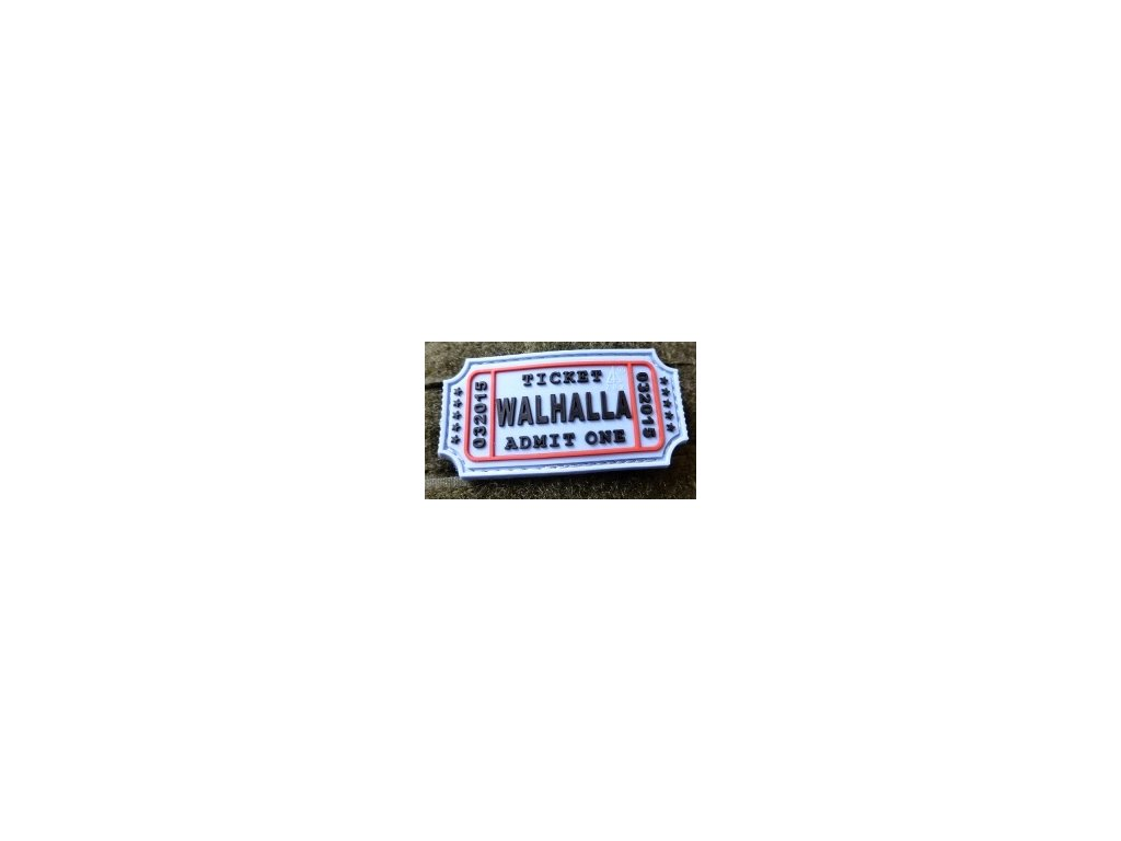 JTG.WTP.lb JTG Walhalla Ticket Patch light blue 3D Rubber patch b2