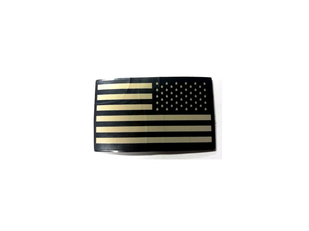 nášivka plast vlajka USA, černá/bílá