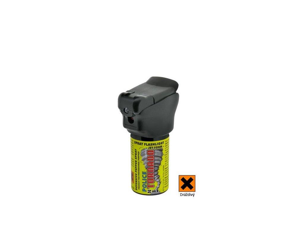 obranný sprej pepřový se svítilnou ESP POLICE TORNADO, 40ml