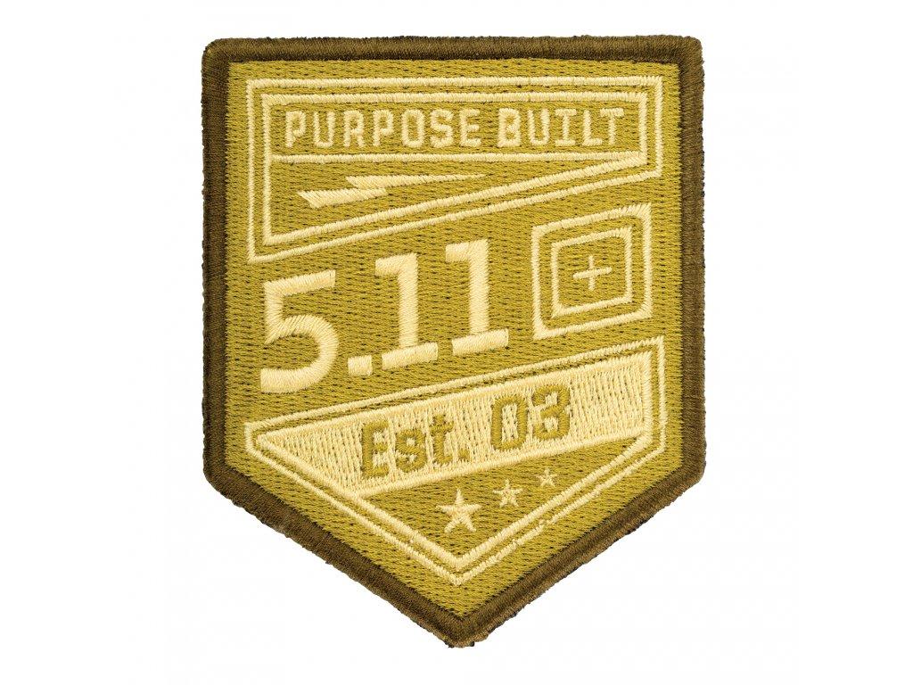 nášivka 5.11 Purpose Built, COYOTE