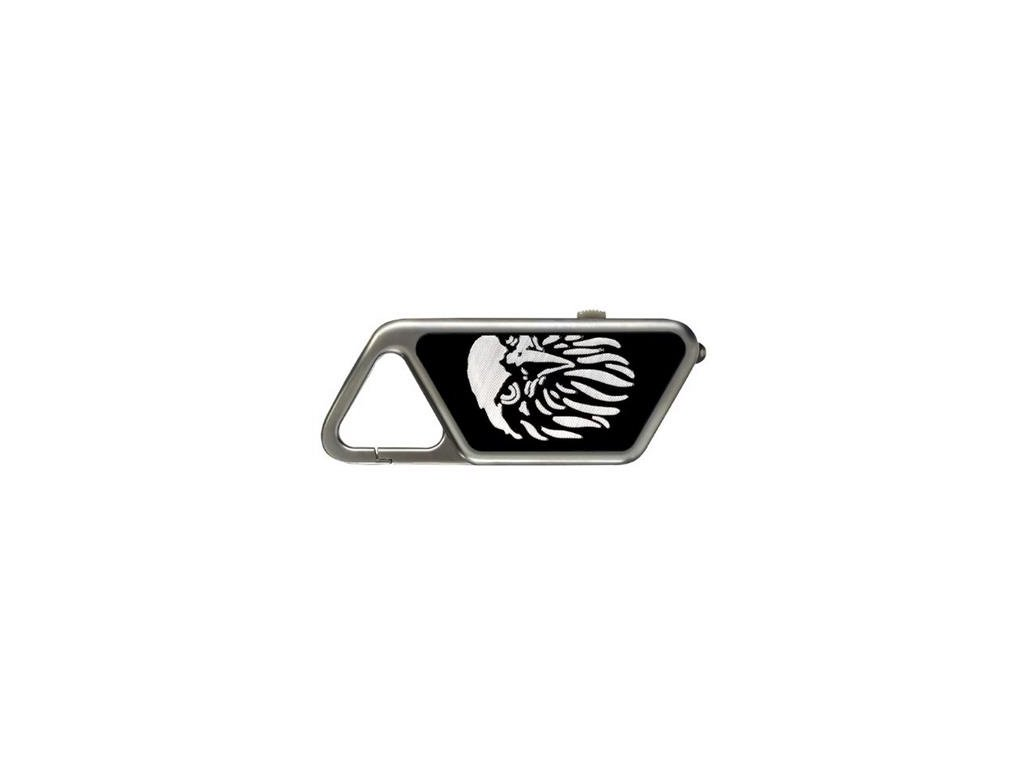 svítilna - přívěsek ASP Saphire Aluminium, barva šedá 20lm/26m, nabíjecí, USB
