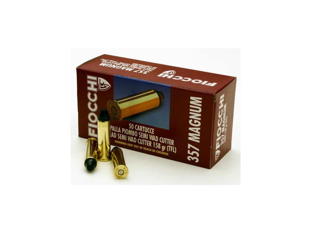 náboj revolverový Fiocchi 357 MAG LSWC TFL 10.24g/158gr.