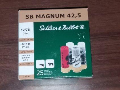 náboj brokový S&B MAGNUM Golden Eagle 12/76, 42,5g/4.0mm