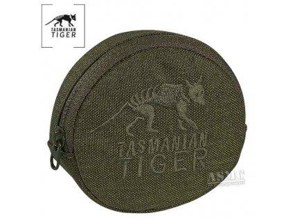sumka na tabák, Tasmanian Tiger DIP POUCH, kulatá 8x8x2cm, olivová