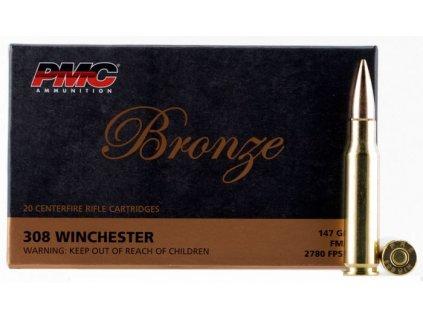 náboj kulový PMC Bronze .308 Win, FMJ 147gr